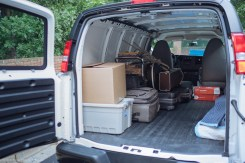 Loading up the van
