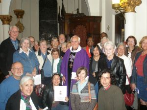 Bishop Gumbleton in Atlanta with Pax Christi/JustFaith participants
