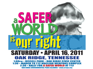 A Safer World is Our Right