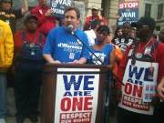 Jeff Zokovitch at We Are One rally