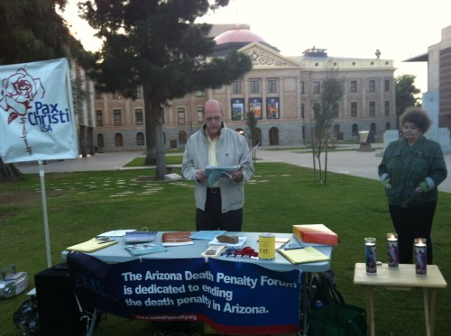 PC-Arizona members against the death penalty