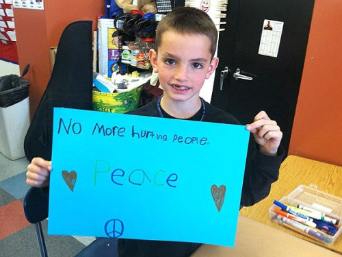 Eight year-old Martin Richard was killed in the bombing at the Boston Marathon.
