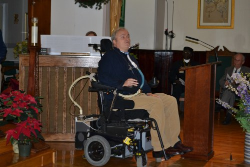 PC-LI's December 8 interfaith service at St. Martha's Parish in Uniondale. It was arranged  to commemorate the 20th anniversary of a lone gunman's rampage on the Long Island Rail Road, in which six people died, and the first anniversary of the mass murder at Sandy Hook Elementary School in Newtown, Connecticut, which took the lives of 20 children and six staff members. The speaker is Det. Steven McDonald of the New York Police Department. While McDonald was on patrol in New York's Central Park in 1986, a 15-year-old boy shot him and left him paralyzed. He has since become an eloquent advocate of forgiveness.