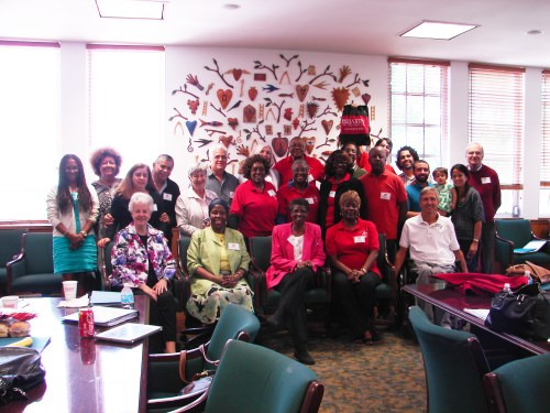 """Participants in the """"We Grow Together"""" workshop held at Barry Universiry in May and hosted by Pax Christi Florida."""