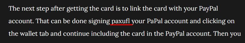 Paxufl typo