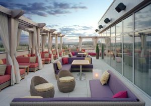 Level 3 rooftop lounge at Melt in the Promenade Shopping Center, Center Valley, PA