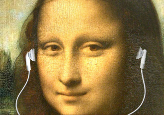 Mona Lisa with earbuds would fit right in at Melt