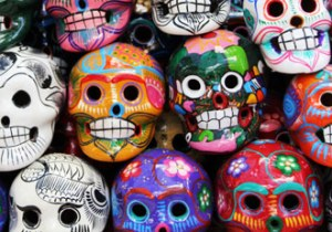 painted sugar skulls exemplify modern mexican cuisine at Torre restaurant in Center Valley, PA