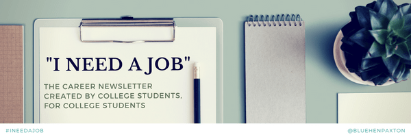 The graphic for my I Need a Job email newsletter series.