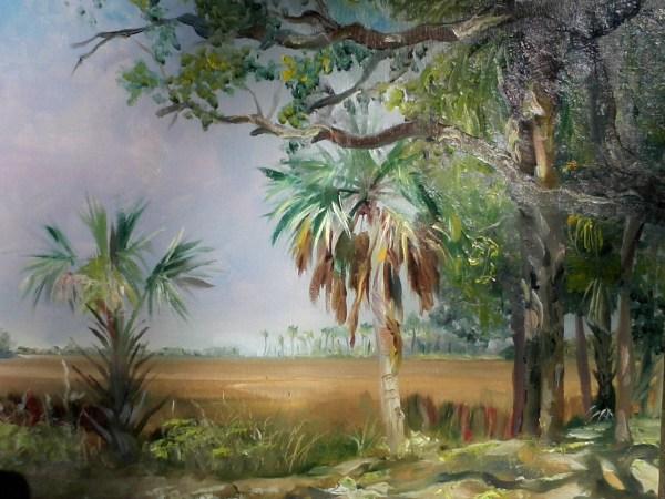 Aripeka Fl Field Study Oil Paintings . Watkins Jr