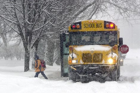 Pay4SchoolStuff.com Snowy School Bus