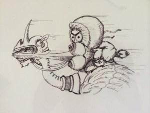 Major Boobage Sketch - Payam Montazami Fine Arts