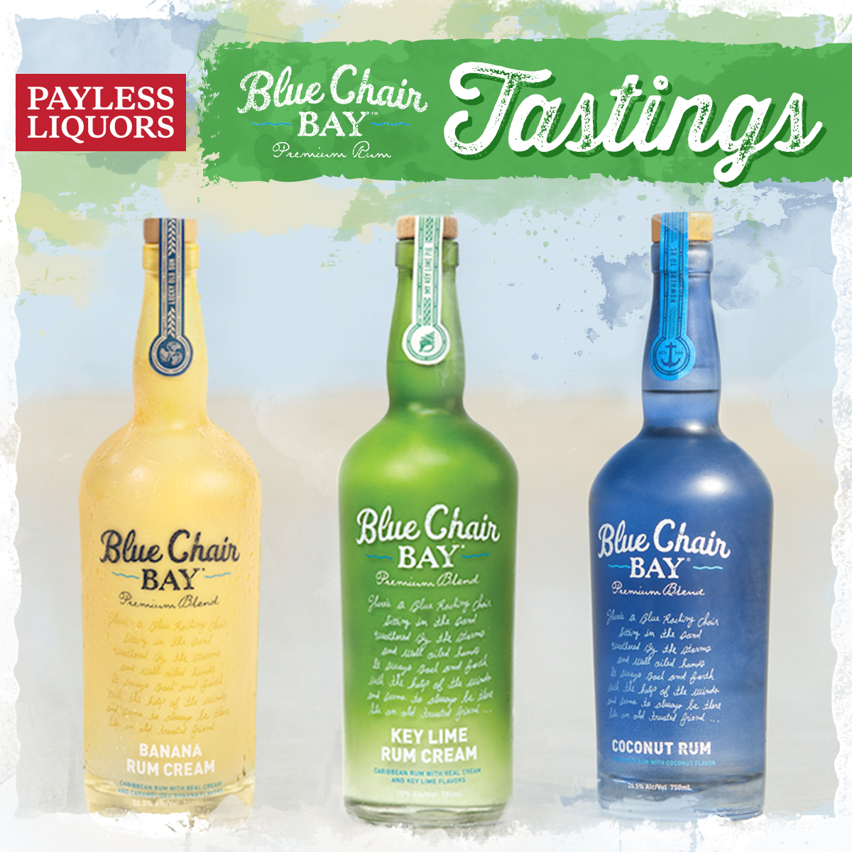 Blue Chair Bay Coconut Rum Blue Chair Bay Tasting Carmel Payless Liquors