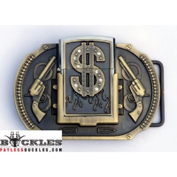 Lighter Belt Buckle With Dollar - Free Shipping 1000