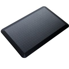 Cushioned Kitchen Mats Lowes Aid Black 20 Quot By 39 3 4 Modern Indoor Cushion Rug