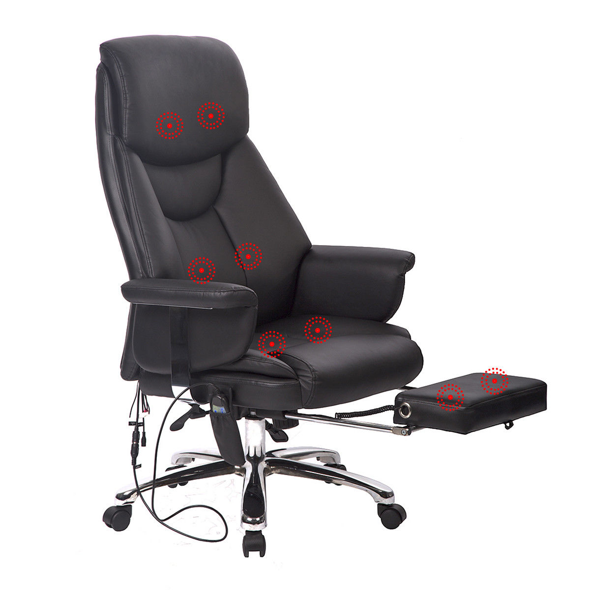 Executive Office Massage Chair Vibrating Ergonomic Computer Desk Chair383Electric Massage Chairs