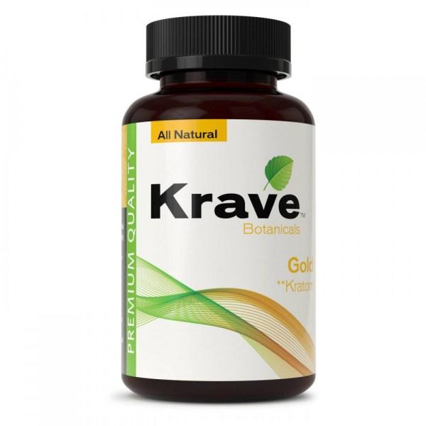 Krave Kratom Capsule - Gold