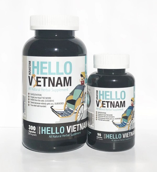 bumble bee hello vietnam kratom capsules