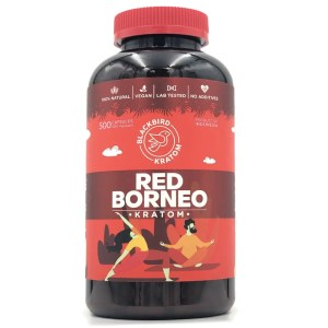 Black Bird Red Borneo Kratom Capsules