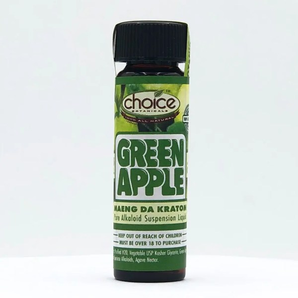 choice botanicals green apple liquid shot