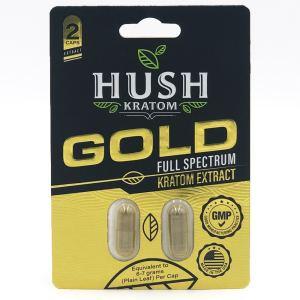 hush gold extract kratom capsules