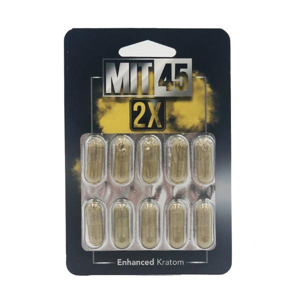 MIT45 Silver 2X Kratom Capsules 10