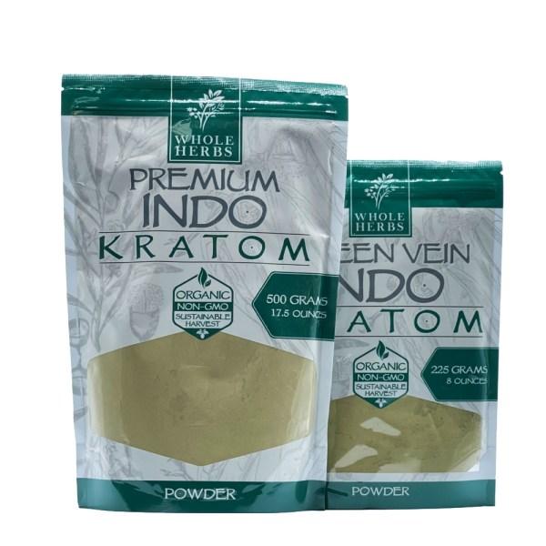 whole herbs green vein indo kratom powder