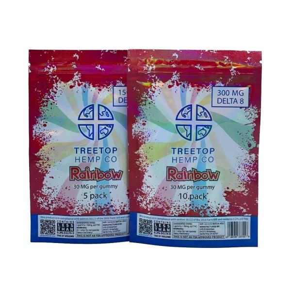 treetop delta 8 rainbow gummy