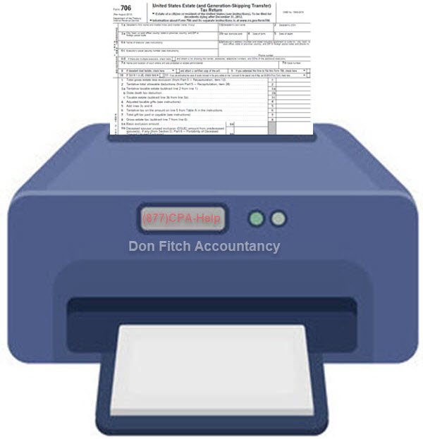 706 Estate Tax Return - Click on to Download Engagement Paperwork in a pdf format