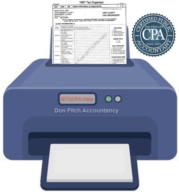1997 Tax Organizer - Click on the above to Download the 1997 Tax Organizer in pdf format