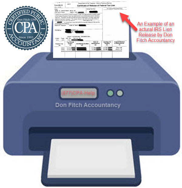 Actual IRS Lien Release Confirmation Letters