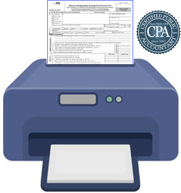 990 Tax Return of Organization Exempt from Income Tax - Click on to Download Engagement Paperwork in a pdf format