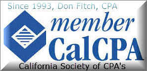 CalCPA - California Society of Certified Public Accountants - Member since 1994.