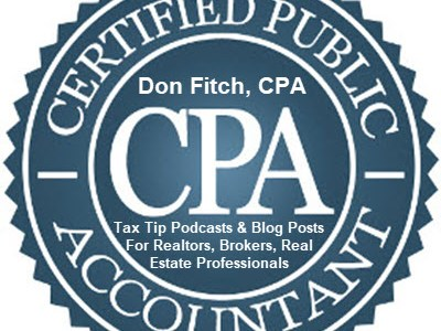 Tax Tip Podcasts & Blog Posts for Realtors, Brokers, Real Estate Professionals