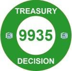 Treasury Decision 9935