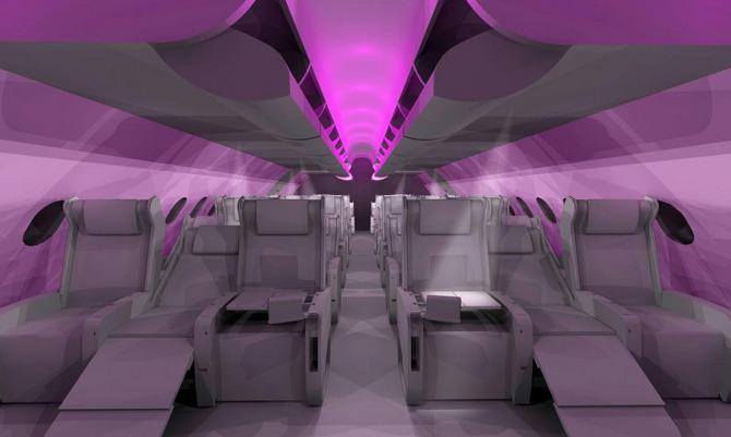 Virgin Atlantic A380 Ryan Baker Interior Designer