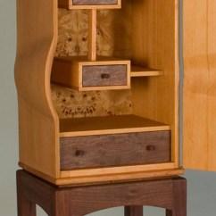 Desk Chair Tall Steel Wheelchair Ramp Doug Fir Cabinet - Daniel Rickey | Originial Furniture, Collaboration, & Production