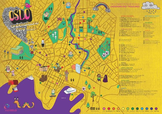 Underground Oslo City Map  Linnosaurus