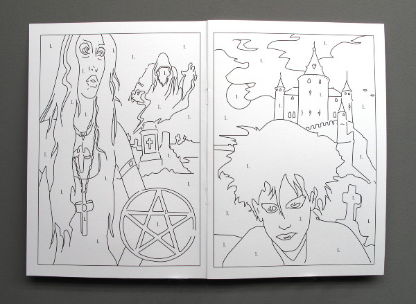The Observer Goth Colouring Book Doreymccall