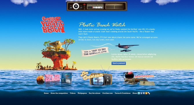 Www Animation Wallpaper Com Gorillaz Plastic Beach Watch Izz