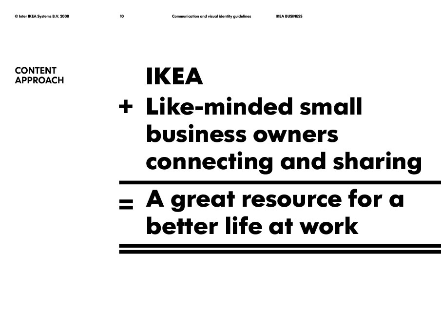 IKEA Business Communication and visual identity guidelines
