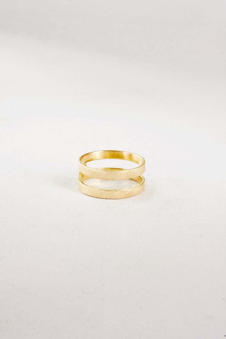 Ring Gold Doppelschiene n54  Letizia Plankensteiner