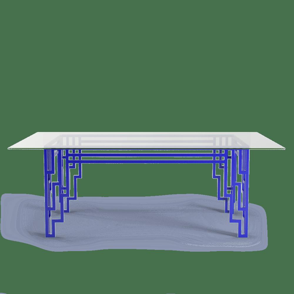 modern art deco electric blue furniture