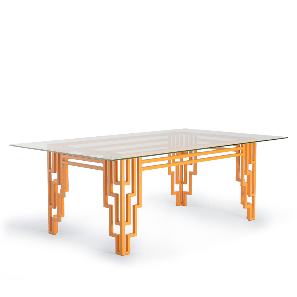 modern art deco bright orange furniture