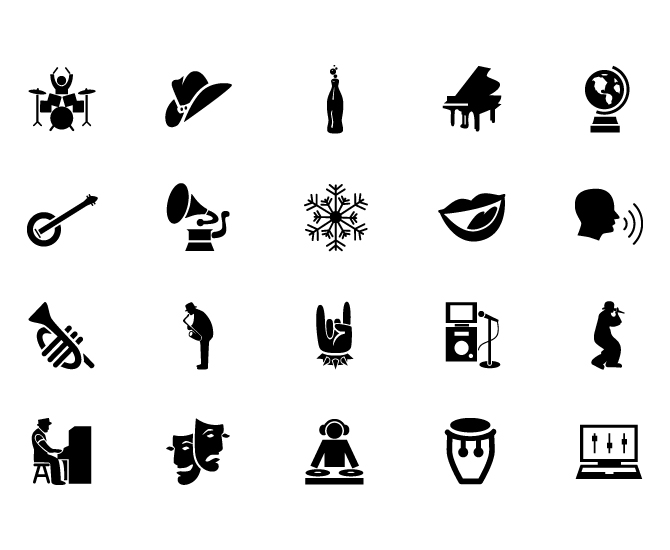 Music Genre Icons Thesis Meghn Lofing Portfolio