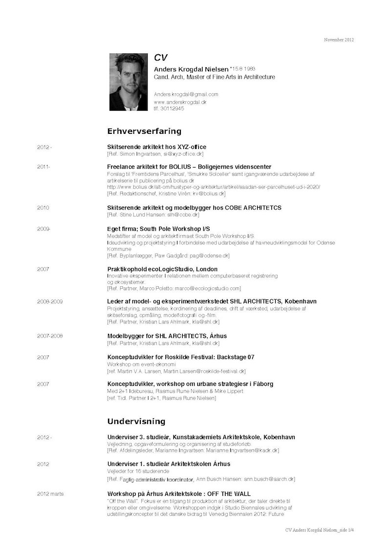 ARCHITECT CV