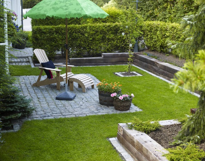 Bordure Jardin Bois Tresse - Décoration de maison idées de design d ...