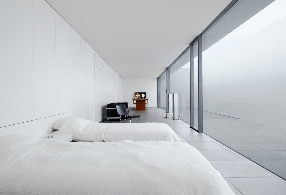 hotel with living room modern ceiling lights minimalist house - jonathan savoie > architecture