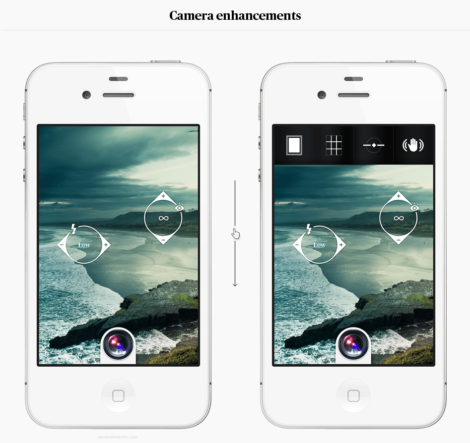simple camera app ios android