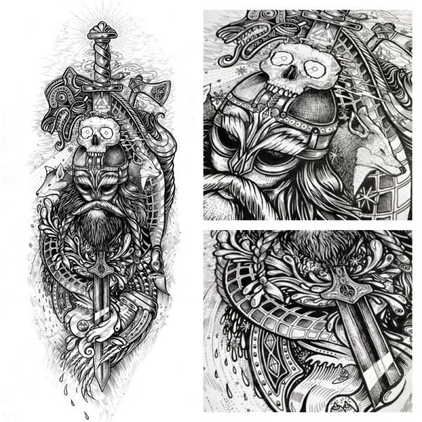 Norwegian Viking Tattoo Designs
